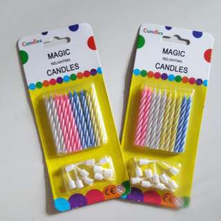 CLEARANCE Magic Relighting Candles