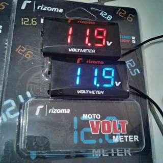 [Ready Stock: 5pcs] Slim Model Voltmeter - Exactly Same Like Koso/Rizoma Voltmeters
