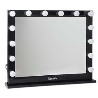 Make Up Mirror Frame with LED Lights 65x80cm Black