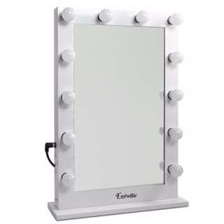 Make Up Mirror Frame with LED Lights 65x60cm White