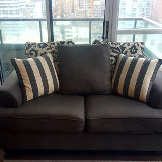 Ashley  Loveseat (Levon Charcoal Sofa)