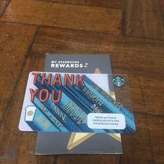 Starbucks Thank You Card