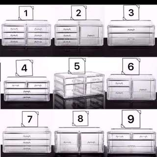 Acrylic Stackable Makeup Storage/Organiser