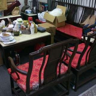 黑檀木桌椅 可議價