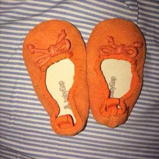 Baby gap orange ballet flats 0-3 months