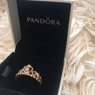 Pandora rose gold tiara ring.
