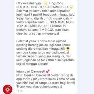 Thank u carousell ☺️☺️