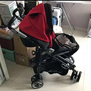 Halford S8 Pramette 2-Sided Cushion Baby Stroller