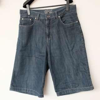 Men's Bermuda Dark Blue Jeans
