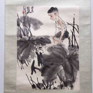 画家卢沉45x33cm (非卖品 Not For Sale )Chinese Painting