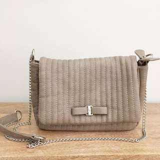 Kate Hill Beige Shoulder Bag