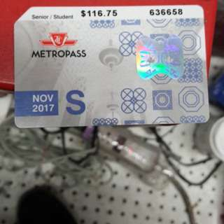 Metro Pass November .
