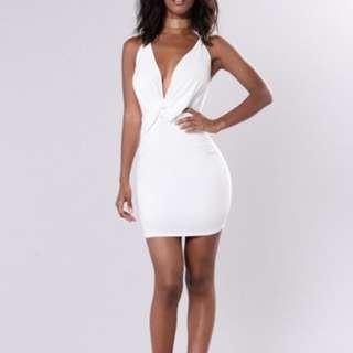 Fashion Nova Snatch Dress White