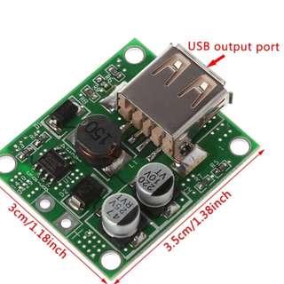 5V 2A Power Bank Solar Panel Voltage Controller Charge USB Regulator 5V-20V In, 5Vdc Out