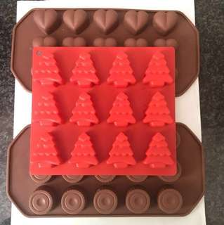Chocolate moulds silicon bakeware/ice cube tray
