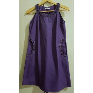 Baju pesta purple size S