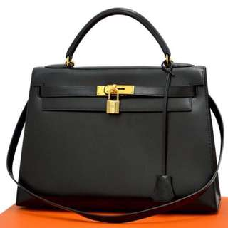 Authentic HERMES Kelly 32 Bag With Strap