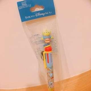 迪士尼 皮克斯 三眼怪 多色原子筆 玩具總動員 巴斯光年 胡迪