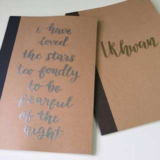 personalised embossed notebooks