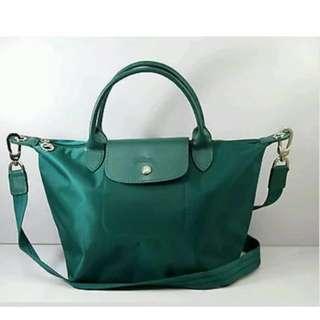 sale Longchamp emerald green small