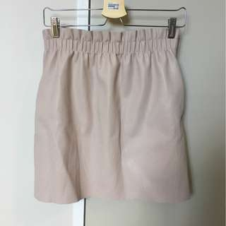 Zara Pleather Pink Skirt