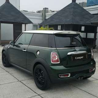 Mini Cooper S turbo coupe 2013 hijau metalik