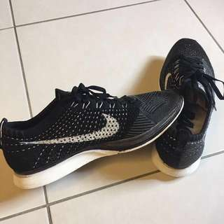 💯WTS Authentic Flyknit racer og dark grey
