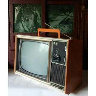 懷舊擺飾-三洋 SANYO 黑白電視機