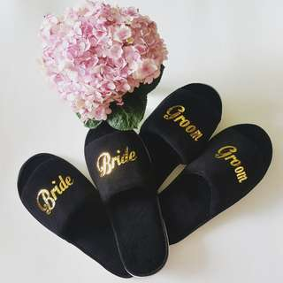 Personalized Bridal Wedding Slipper / Bridesmaid Gifts / Personalized Bridesmaid Gifts / Customized Gifts / Bride / Bridesmaid