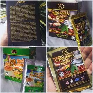 GAHARU Coffee 4 in 1/Teh Tarik Halia 5 in 1