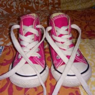 Original Pink Converse All Star Hi-cut sneakers