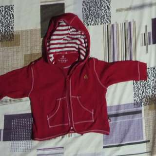 Baby Gap Red Hood Jacket 6 To 12 Months