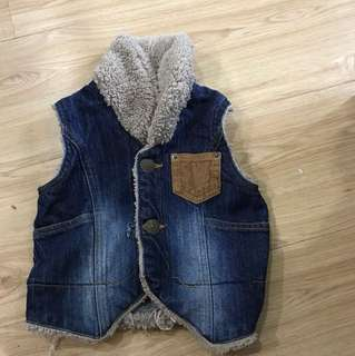 Stylish vest jeans wool