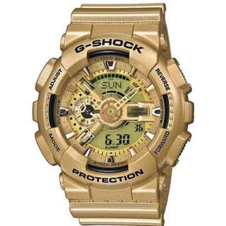 Casio G Shock * GA110GD-9A Anadigi Gold Series Gold Gshock