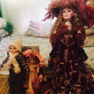 Porcelain doll made in milan italy