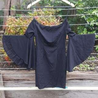 NEW Off the shoulder black dress