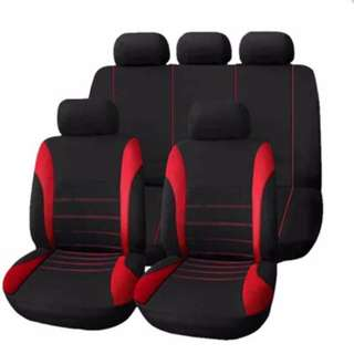 T21620 UNIVERSAL 9 SET CAR SEAT COVERS MESH SPONGE INTERIOR ACCESSORIES FULL COVER SET FOR CAR CARE