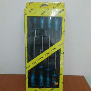 King Toyo 8pcs Screwdriver Set ( Germany Type )