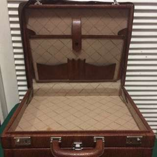 Vintage Gold Pfiel Luggage