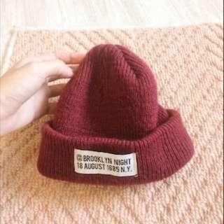 💓lowrys 棗紅色毛帽