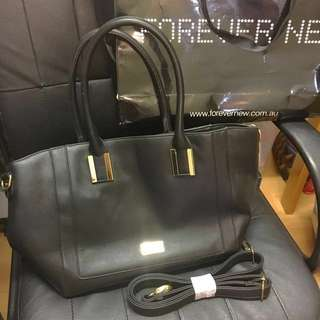 Brand New with tags Forever New black leather tote shopping or work bag