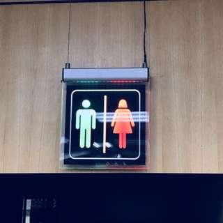 廁所標牌 -Led 壓克力看板