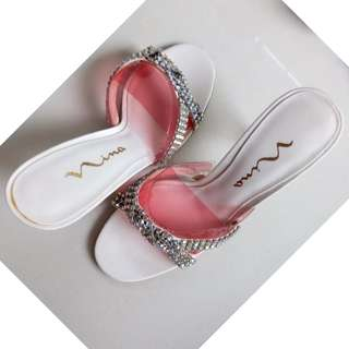 Size 7 Wedding Shoes -  White with Diamantes