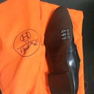 Hermès 爱马仕 paris monk double strap shoes (43)