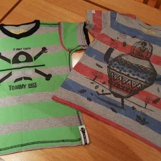 Boys Tommy Rocket T'Shirts x 2, Size 6