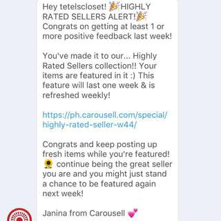 Featured again 🙂 Thank you Carousell! 😘