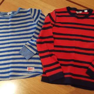 Country Road Boys Long Sleeve Tops, Size 7 x 2