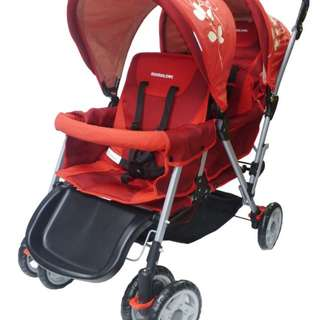 Mamalove Twin Stroller (Red)