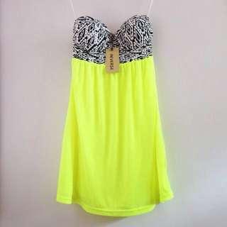 Reverse (UK) Aztec Bustier Neon Party Tube Dress