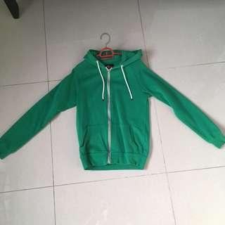 Green jacket hoodie